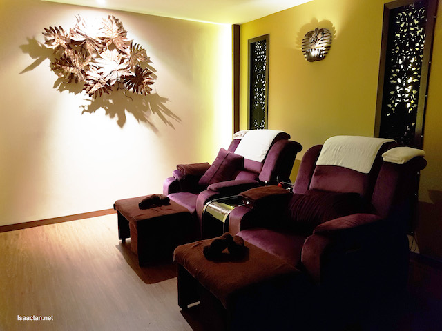 Lovely place to get your feet and leg massage
