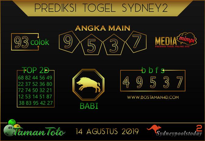 Prediksi Togel SYDNEY 2 TAMAN TOTO 14 AGUSTUS 2019