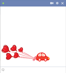Car with hearts icon