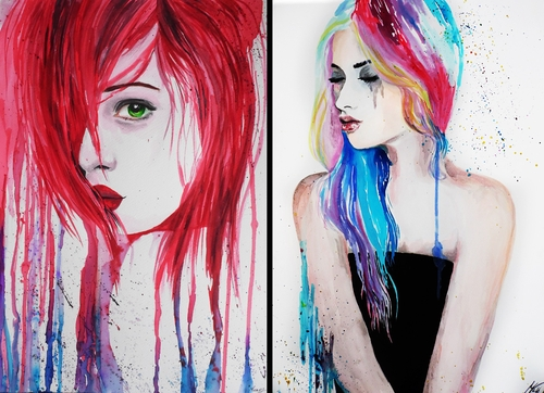 00-Andrea-Wéber-aka-Mandy-Candy-Paintings-A-Mirror-to-the-Artist-s-Emotions-www-designstack-co