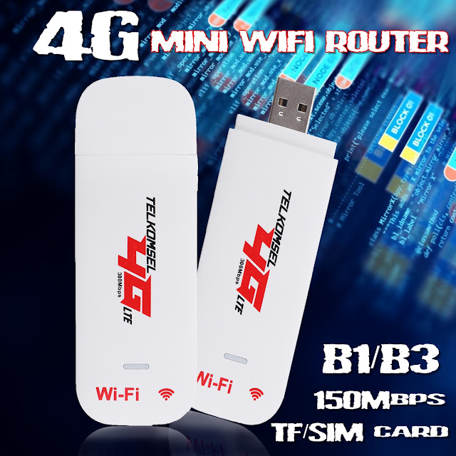4G 3G LTE USB 2.0 Wireless Hotspot Mobile Dongle Router with SIM TF Card Slot for Mobile Phone Tablet