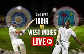 Live Ind vs WI 2nd test 2018