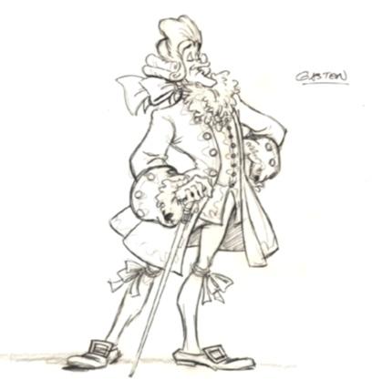 La Bella y la Bestia de Disney - Blog: Arte conceptual y bocetos: Gastón