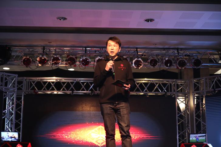 David Tan, Presiden Direktur HP Indonesia membuka acara Peluncuran OMEN by HP, HP Indonesia