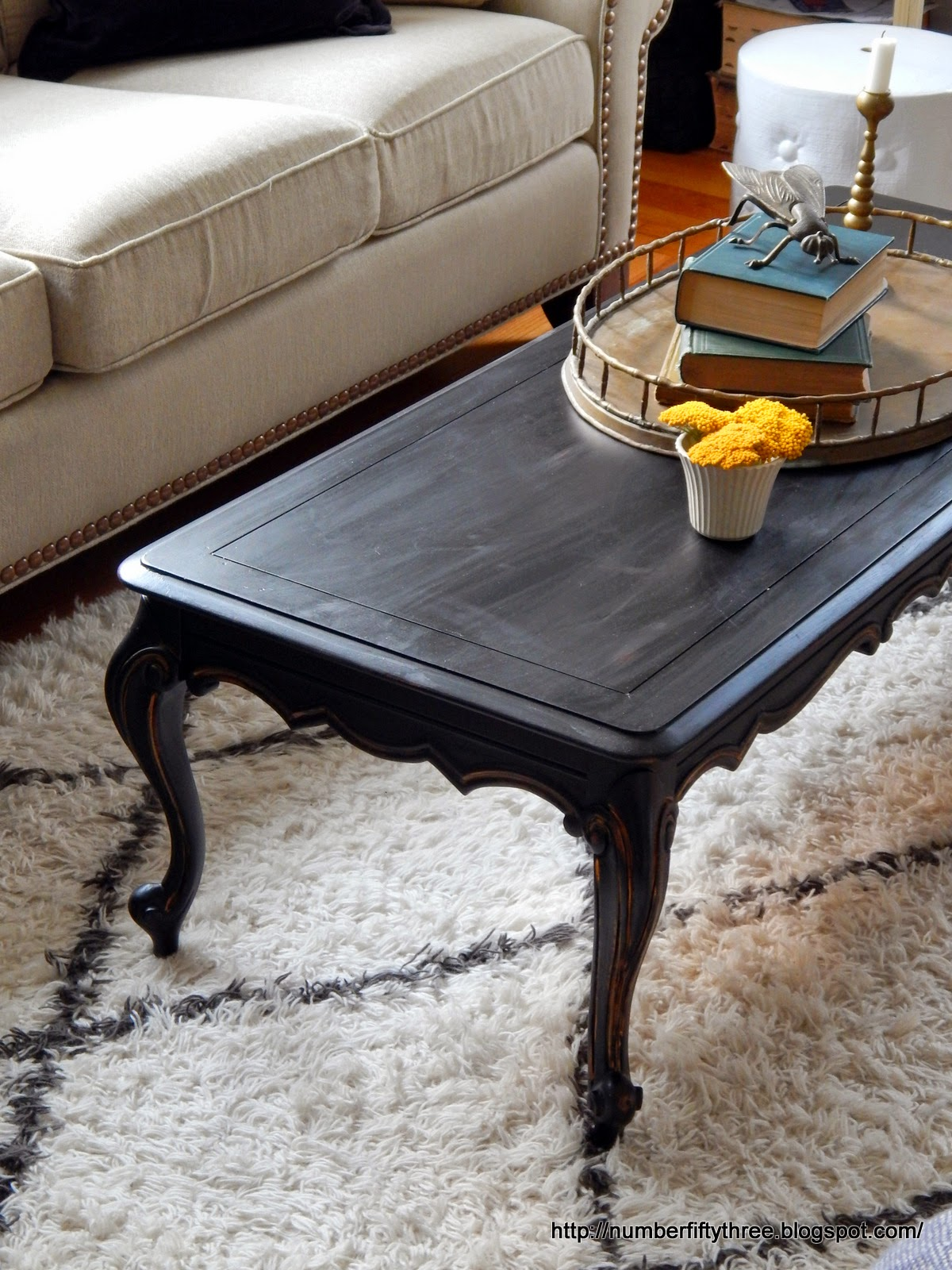 Number Fifty-Three: Classic Black & Gold Coffee Table