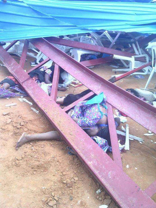 Graphic photos from Reigners Bible Church collapse in Akwa Ibom