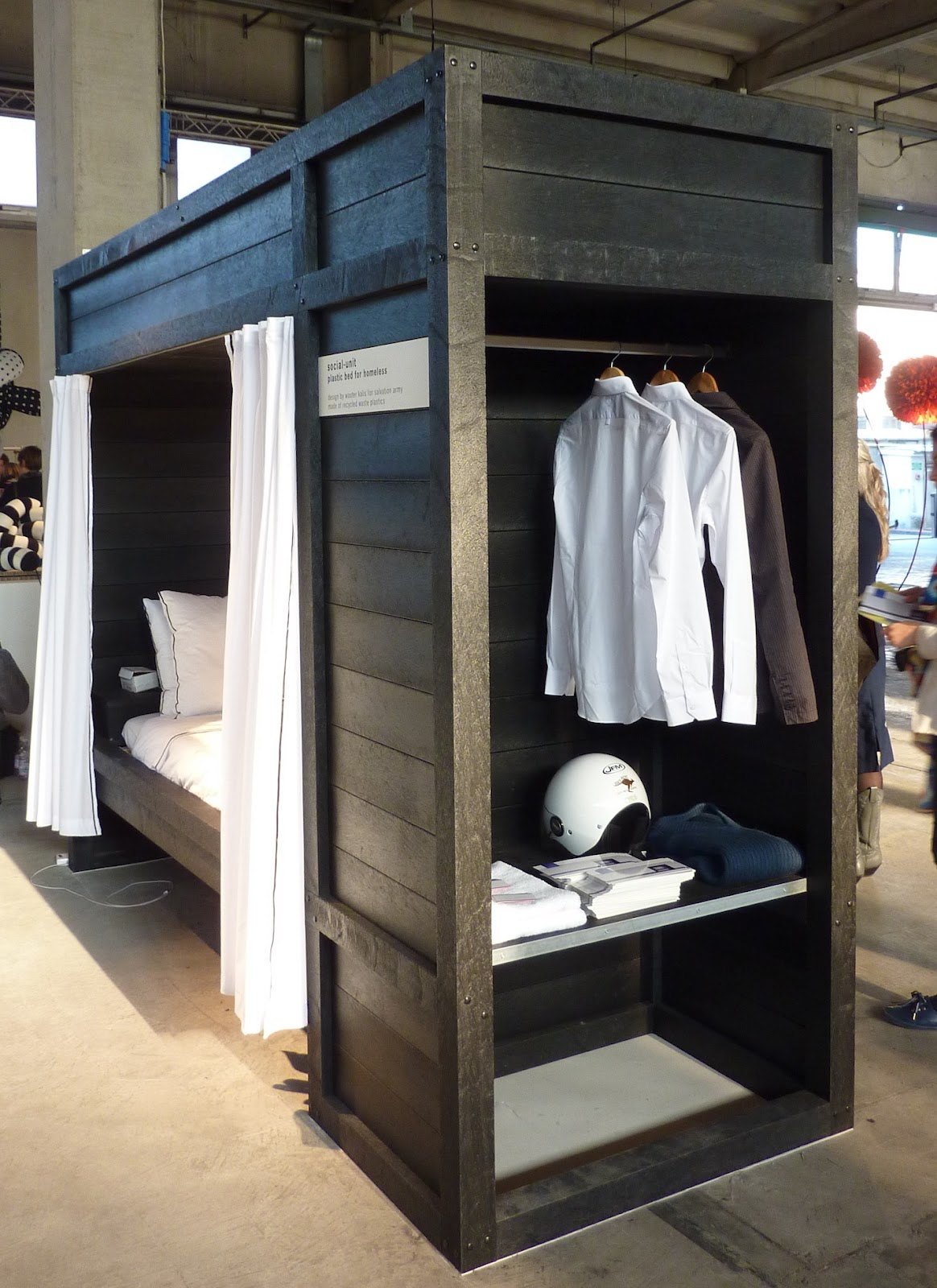 Clothespeggs Bed Room For The Homeless By Social Unit