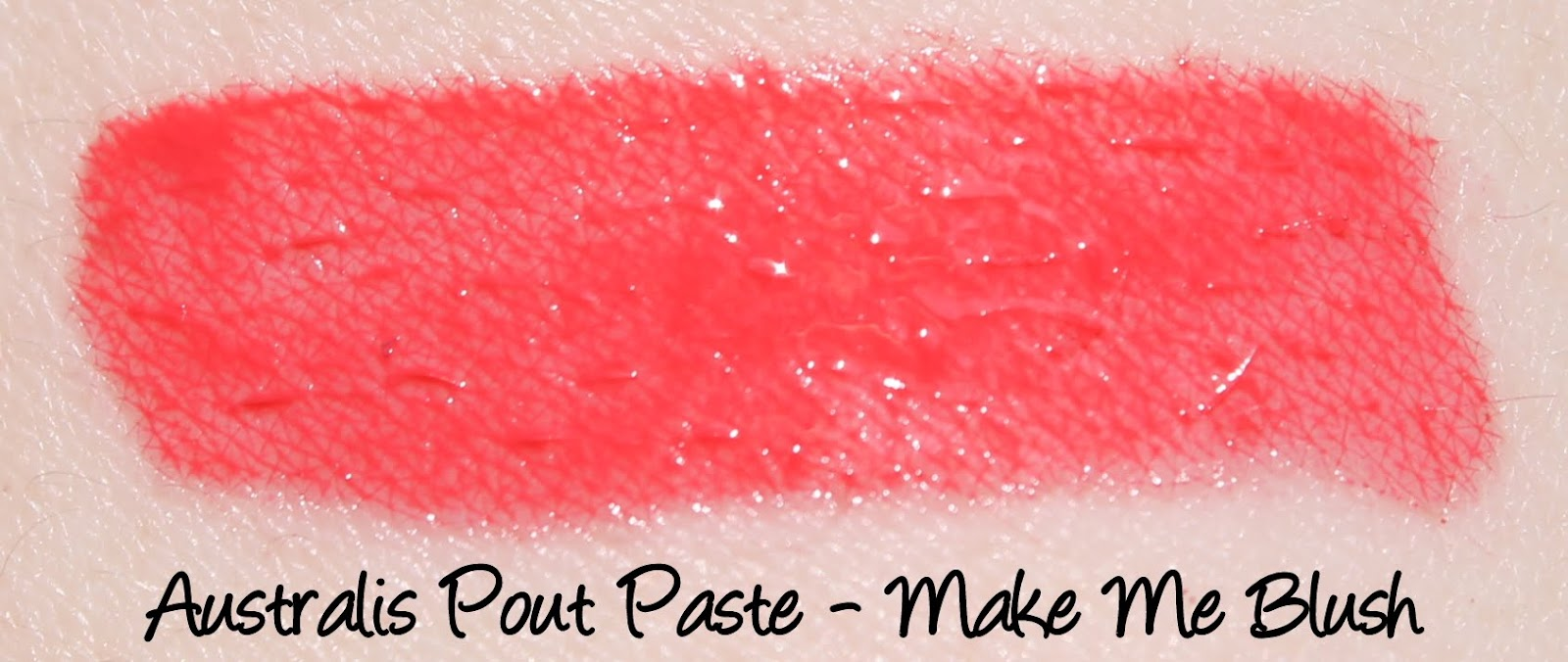 Australis Pout Paste - Make Me Blush Swatches & Review