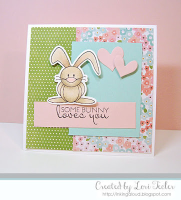 Somebunny Loves You card-designed by Lori Tecler/Inking Aloud-stamps and dies from Verve Stamps