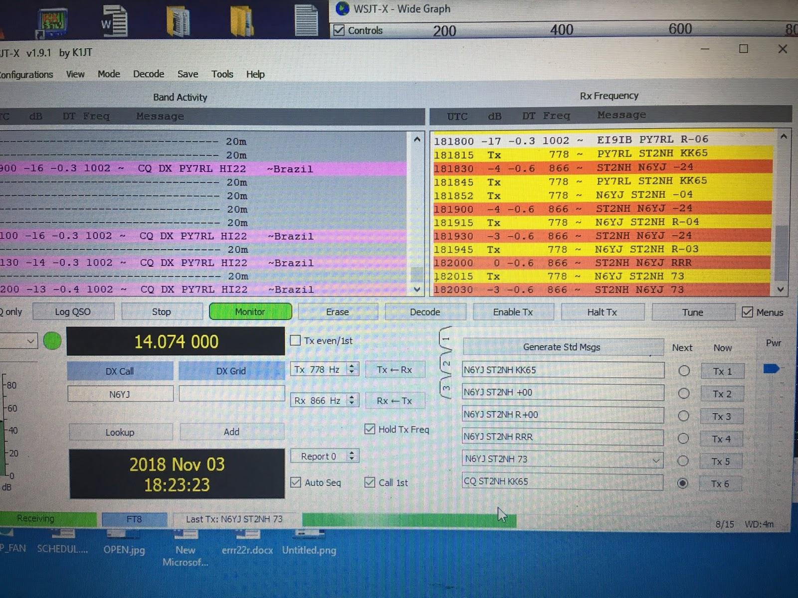 NADER's Satellite Blog: FT8
