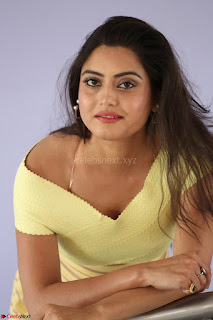 Shipra gaur in V Neck short Yellow Dress ~  024.JPG