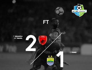 PSM Makassar vs Persib Bandung 2-1