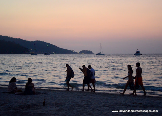 sunset in Patong Beach