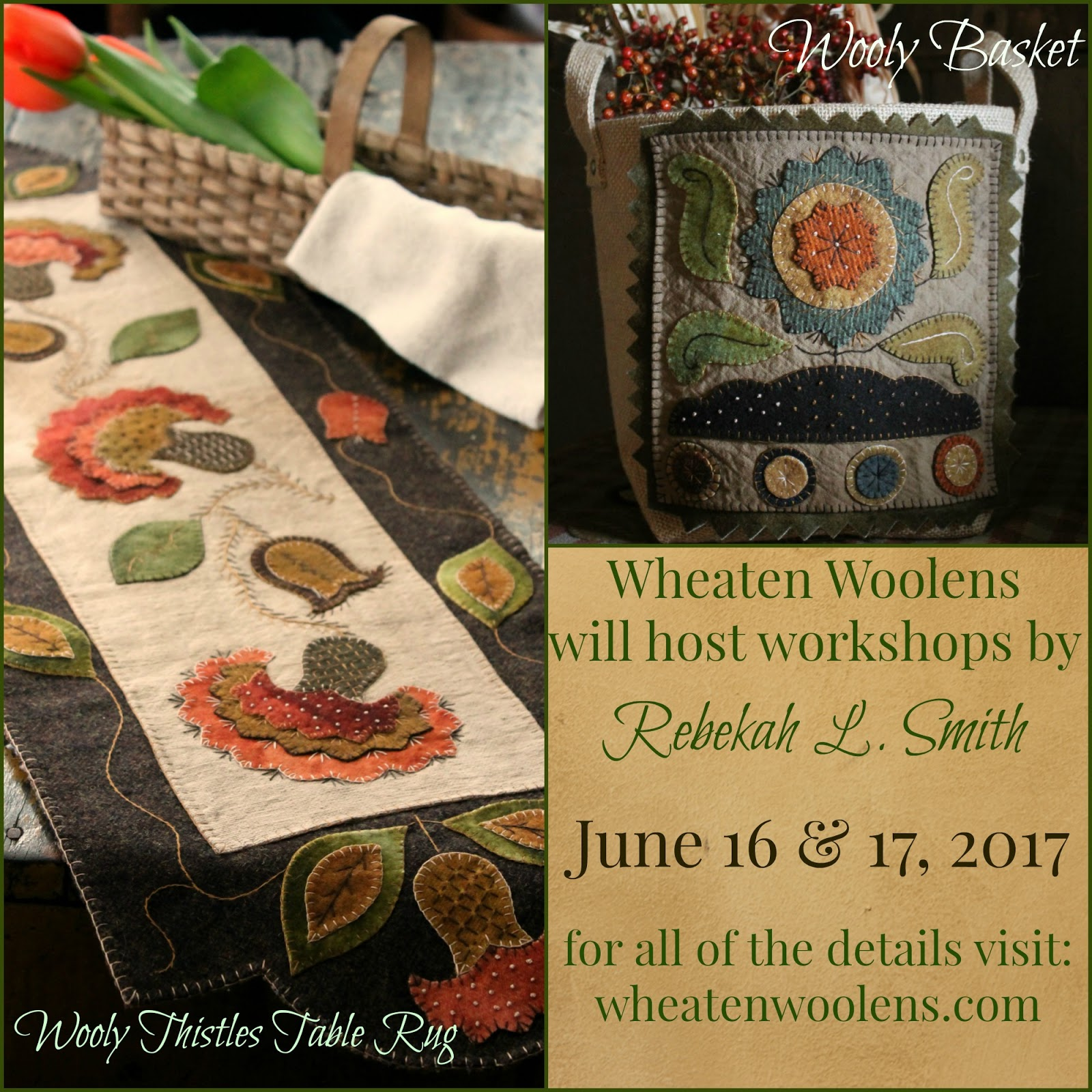 Winding Vine Wanderings Wheaten Woolens Class With