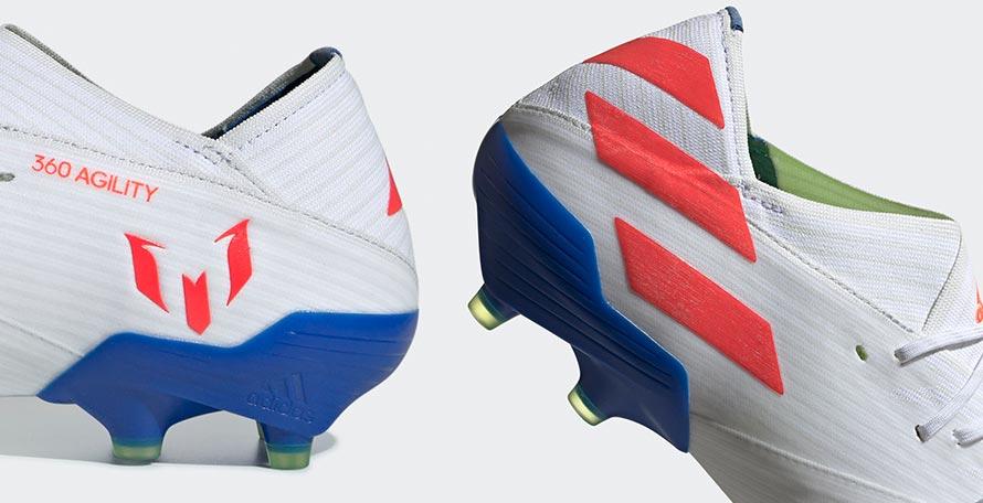 9eb965ec9d9 White   Multicolor Next-Gen Adidas Nemeziz Messi 19 Debut Boots ...
