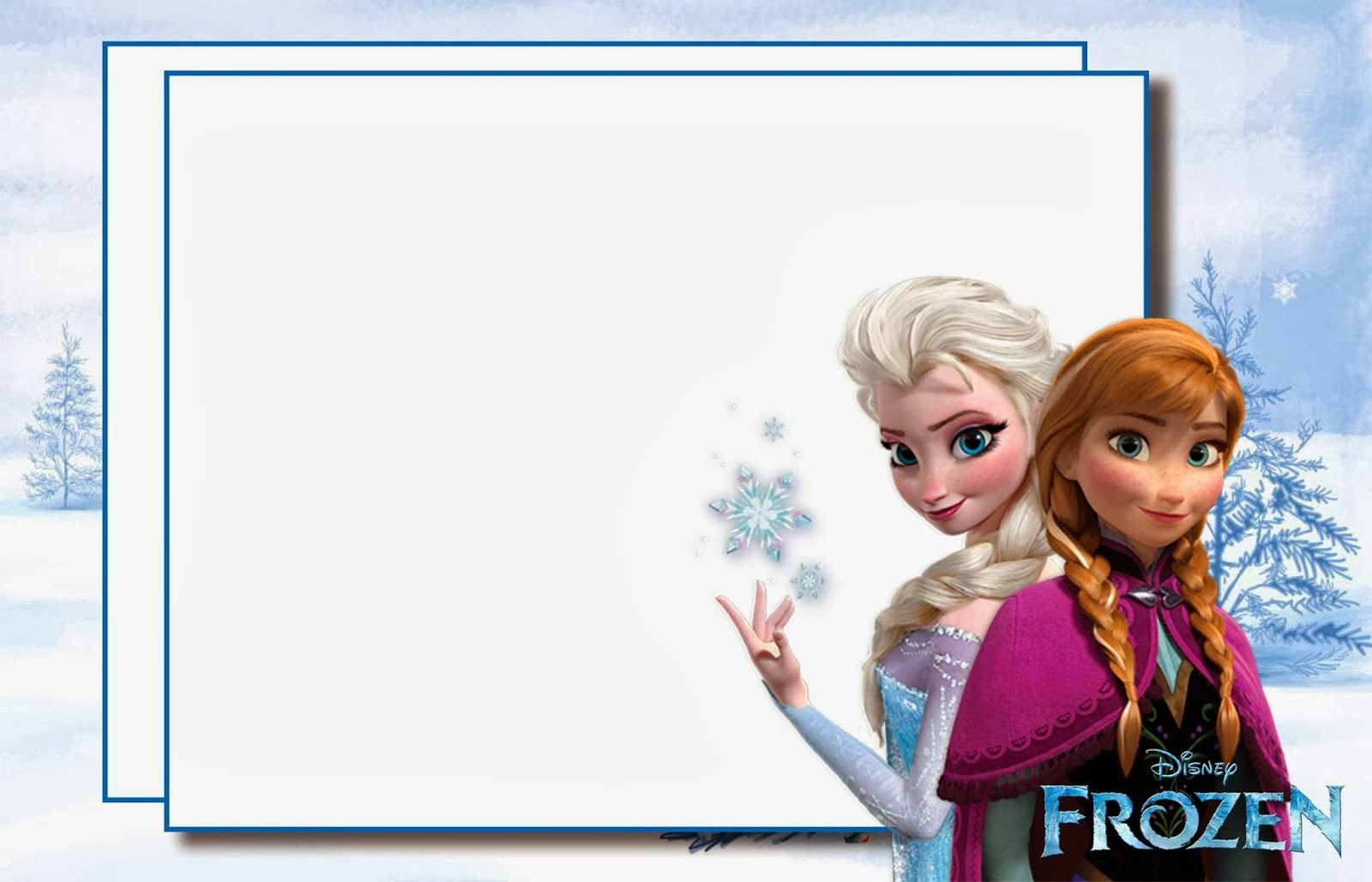 Frozen Party: Free Printable Invitations. | Oh My Fiesta
