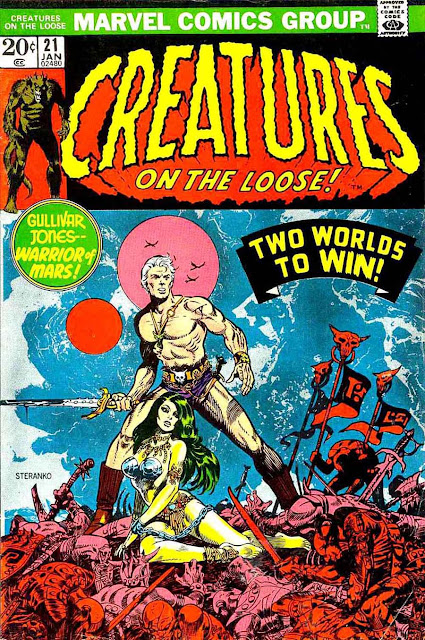 Creatures On The Loose v1 #21 marvel 1970s bronze age comic book cover art by Jim Steranko