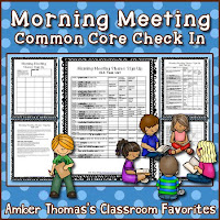http://www.teacherspayteachers.com/Product/Morning-Meeting-Common-Core-Check-In-Tasks-525244