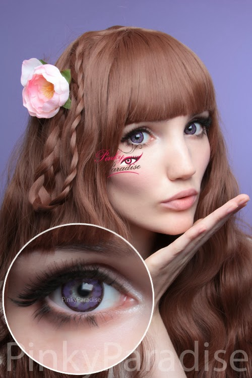 EOS Big Flower Violet Circle Lenses (Colored Contacts)