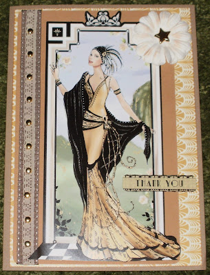 Kym S Crafty Cards Thank You Art Deco Card
