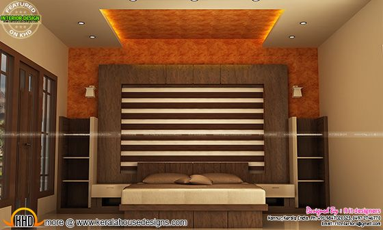 Bedroom interior in Kerala