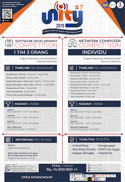 Lomba IT Competition UNITY #7 2019 Mahasiswa