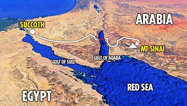 El monte Sinaí en Arabia Saudita.