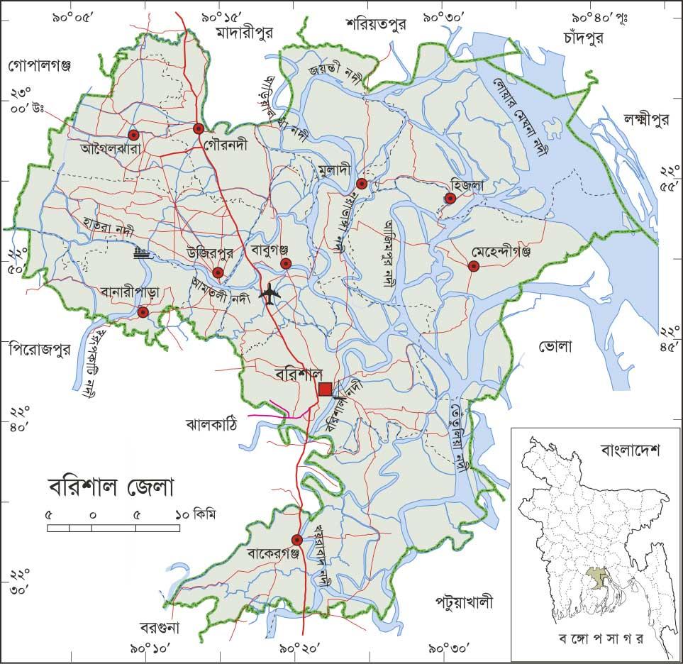 Bangladesh Map All: Barisal Map