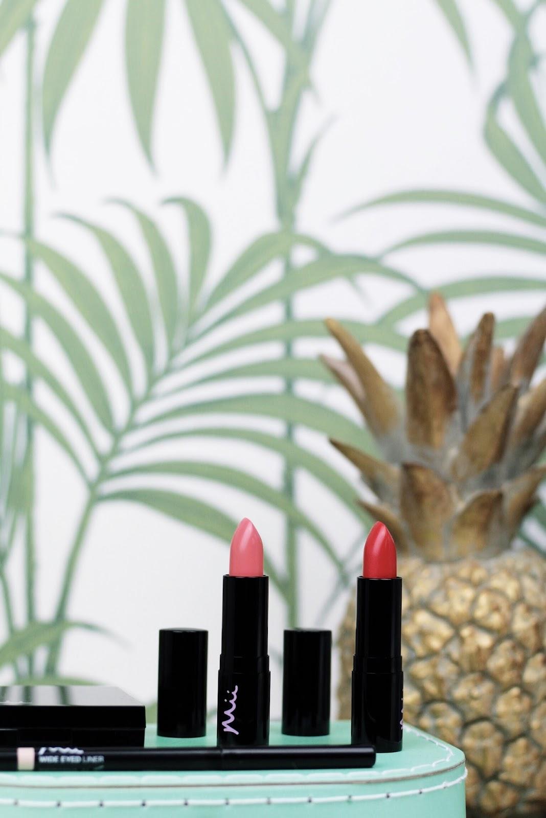 Mii Cosmetics Tropical Daydream Lipsticks Sunblush Sunburst