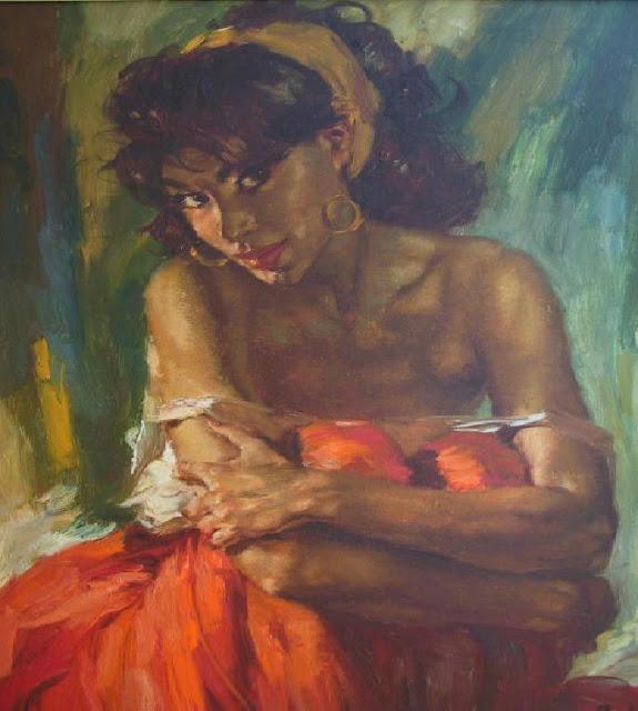 Charles Roka 1912-1999 | Hungarian Painter | Vintage Portraits