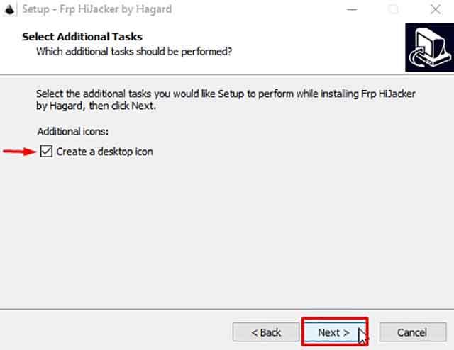 crear icono frp hijacker en el escritorio