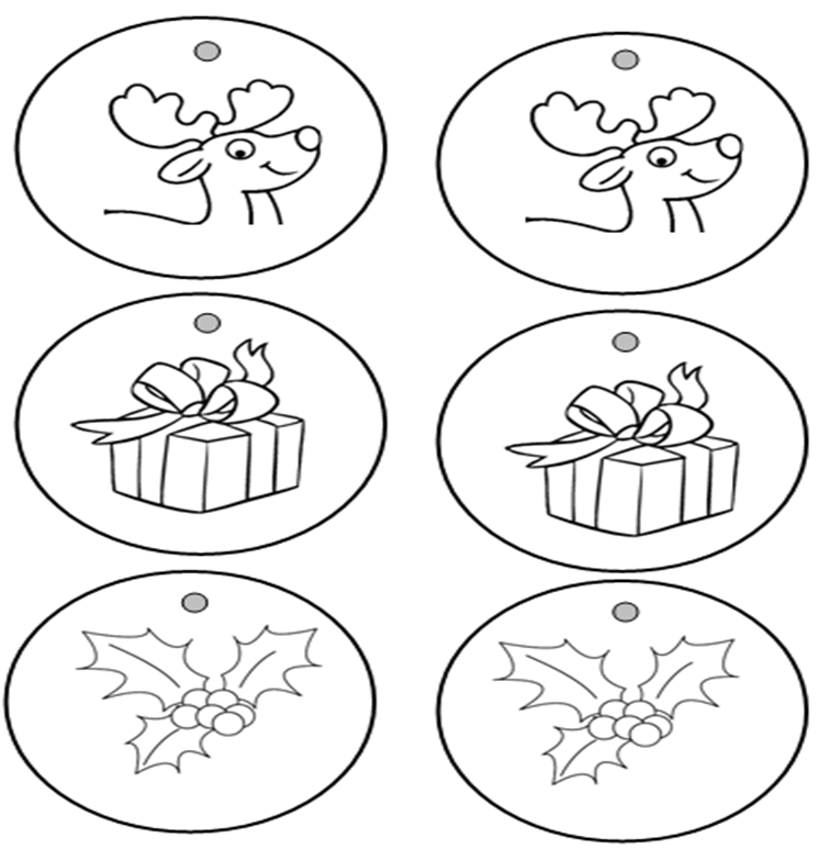 Maestra en prcticas: Bolas de Navidad para colorear