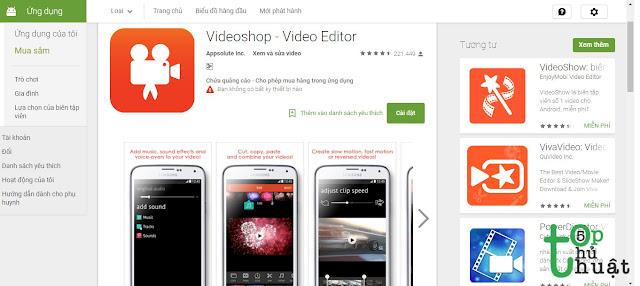 Phần mềm chỉnh sửa video Video Shop