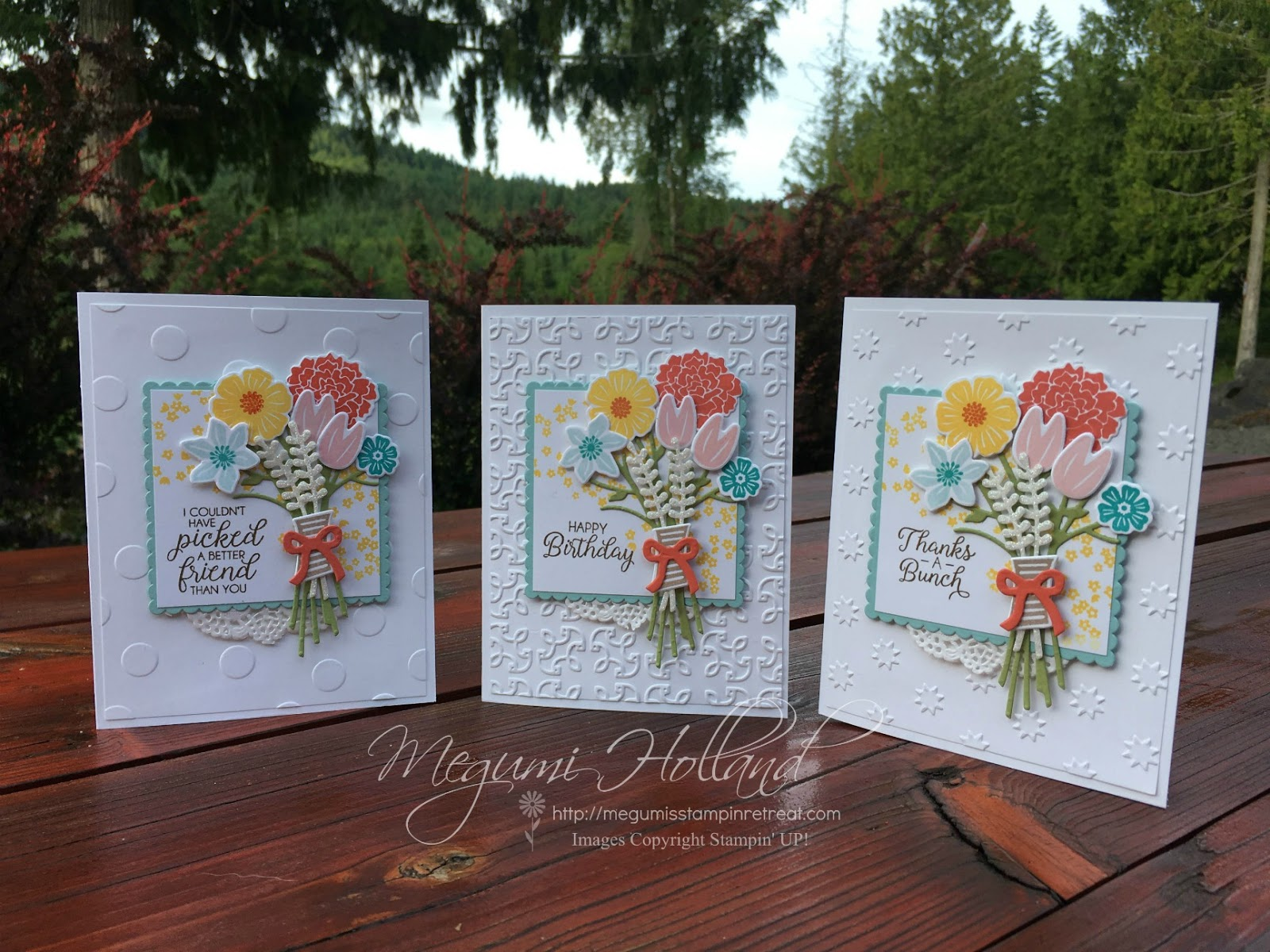 Hello Stampers! I Just Realized I Hadnu0027t Shared This Project Yet. These  Pretty Cards Are From My July Card Club Workshops Featuring The Beautiful  Bouquet ...