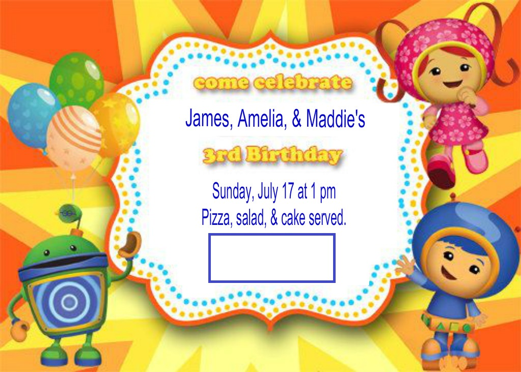 Our Theme Aka Invitations And Cake Was UmiZoomi This Has Been A Favorite Show Of All Four Kids For As Long I Can Remember