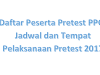 Daftar Peserta Pretest PPG, Jadwal dan Tempat Pelaksanaan Pretest 2017