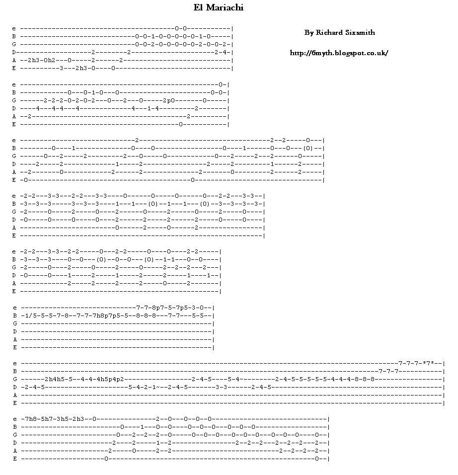 Desperado - Antonio Banderas - Cancion del Mariachi Chords ...