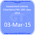 Assessment scheme (Chemistry) 9th 10th class 2014