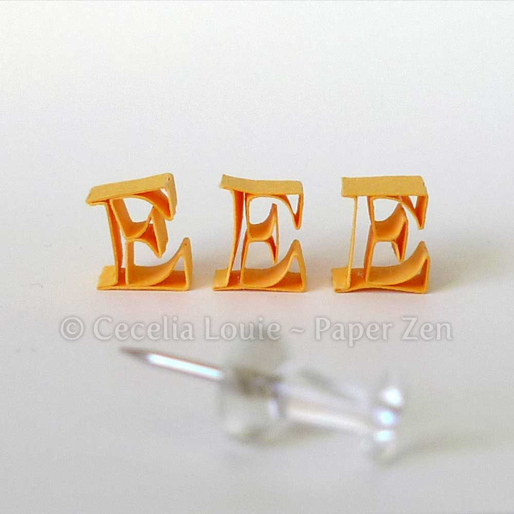 Paper_Quilling_Letter_E_trials Quilling Letter V Template on