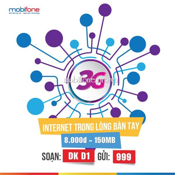 Lướt 3G trọn gói hàng ngày cùng gói D1 Mobifone