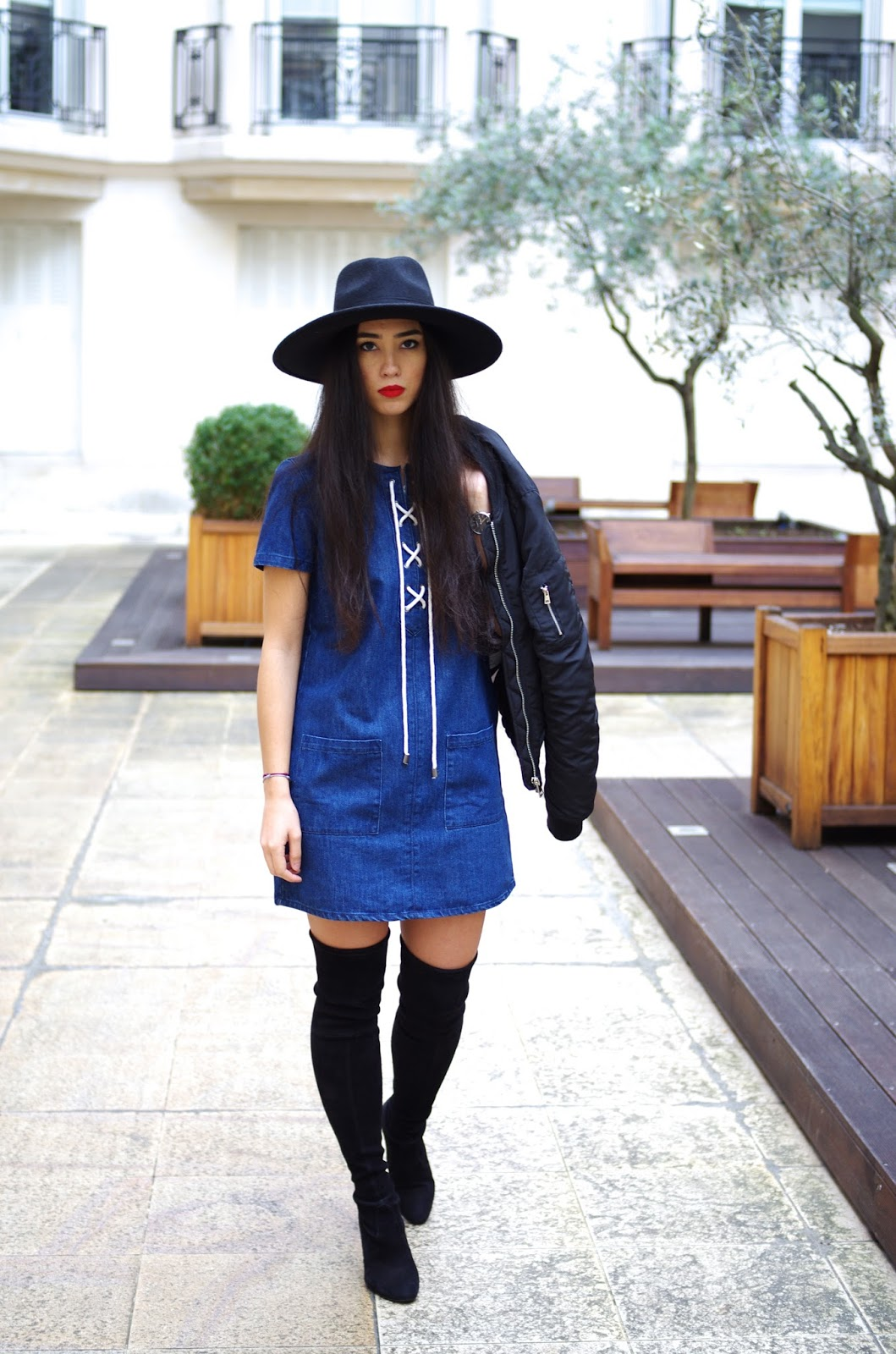 Elizabeth l Lace Up Denim Forever21 l THEDEETSONE l http://thedeetsone.blogspot.fr
