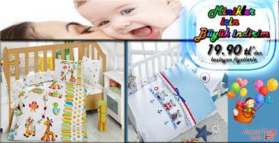 Nevresim Dünyasında Miniklere Büyük İndirim Bebek Nevresim Takımları 19.90 tl'den Başlayan Fiyatlarla...