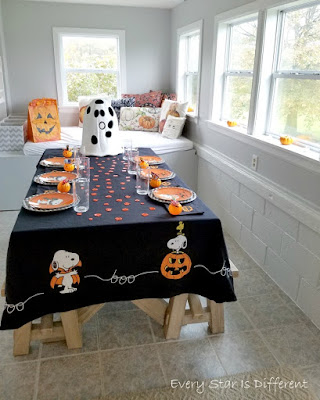 A Minimalist Montessori Home Tour: The Dining Room-Halloween Decor