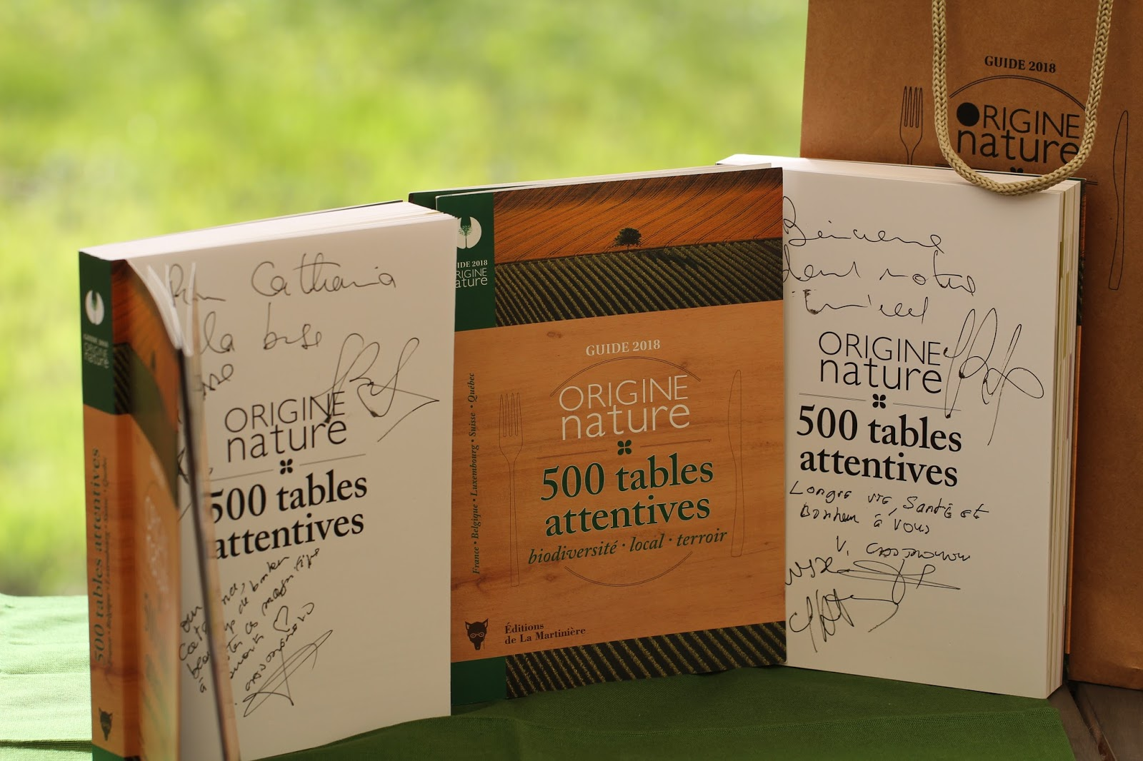 Guide 2018 Origine Nature 500 tables attentives biodiversité, local, terroir