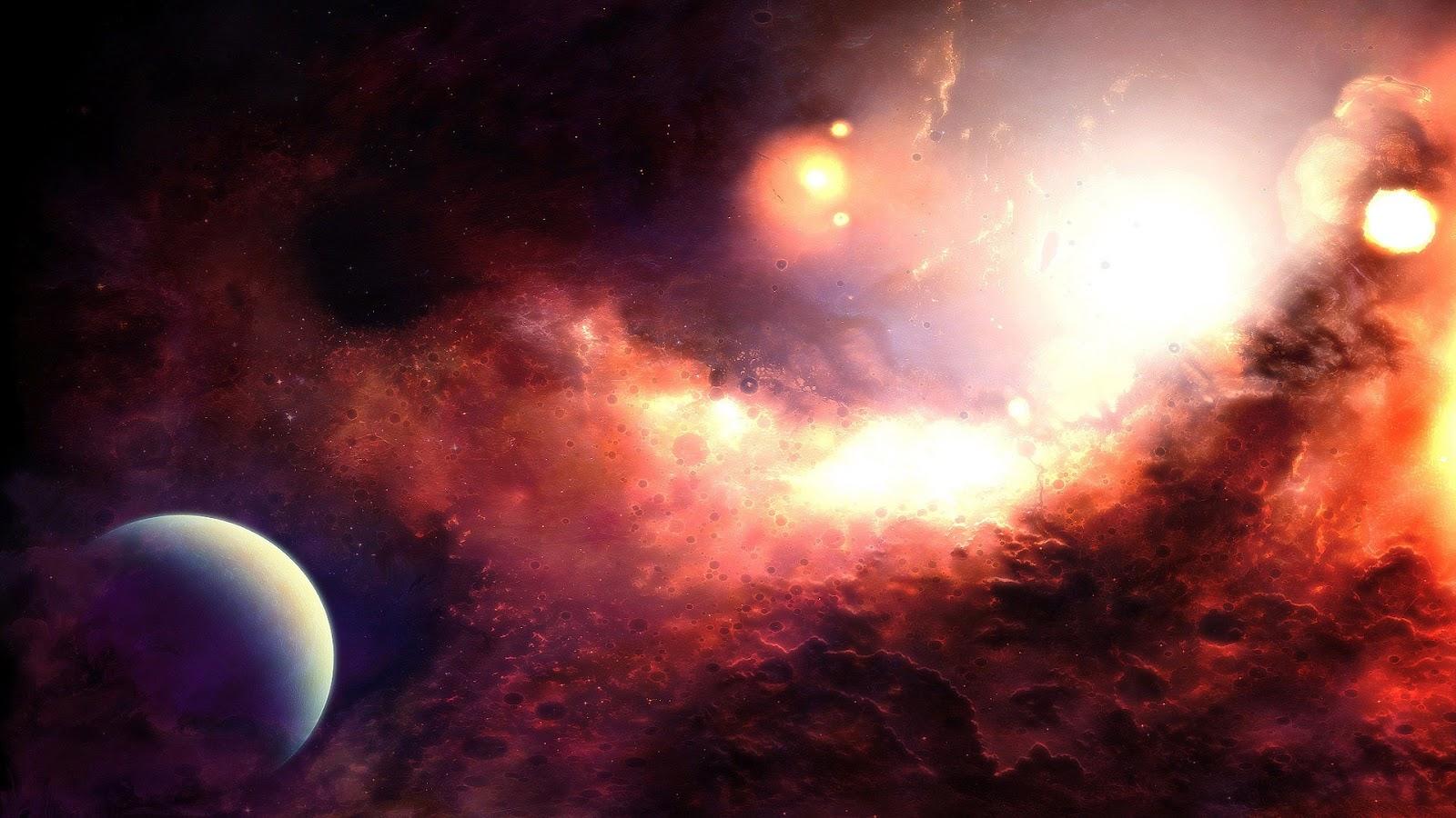 オレンジ色の光の宇宙