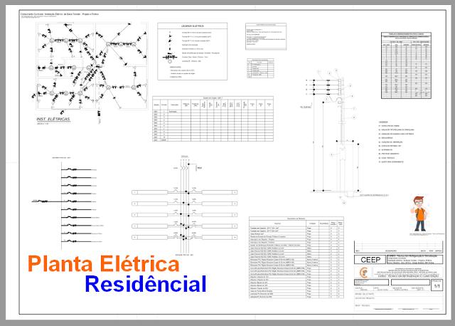 Planta Elétrica de Baixa Tensão + Download PDF