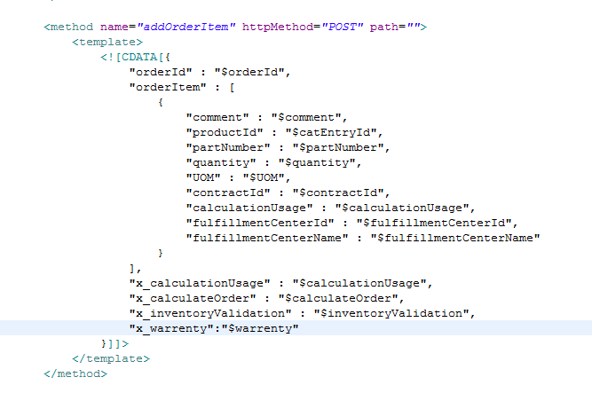 ibm websphere commerce server  pass custom parameter to orderitemaddcmd in feb 8