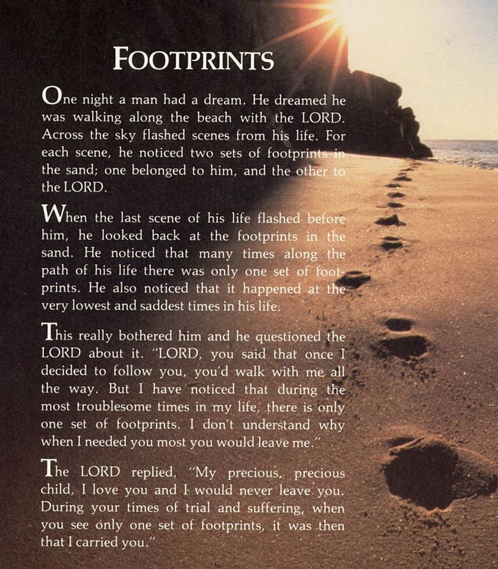 Footprints: Scripture with Reflections