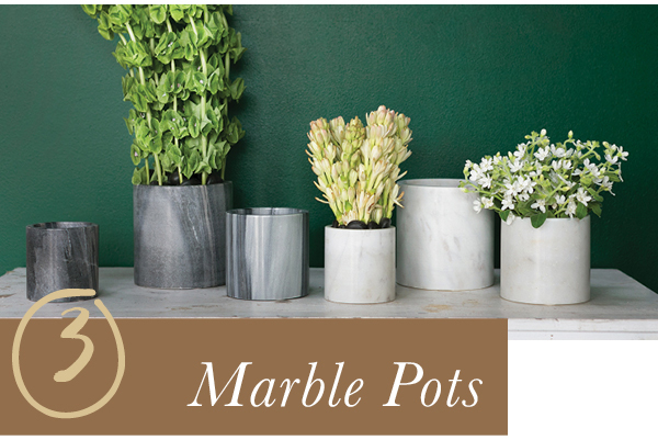 Accent Decor Bestseller: Marble Pots