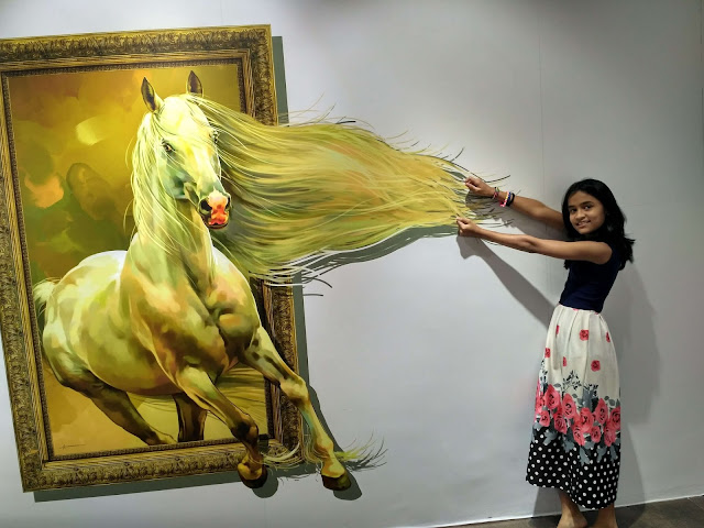 3d Magic Art paining of horse